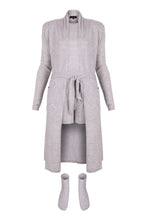 Load image into Gallery viewer, IA Essentials: Grey Cashmere Robe Set