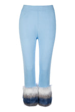 Load image into Gallery viewer, Blue Faux Trim Pants