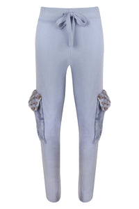 Blue Mink Flap Pocket Pants