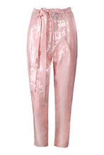 Load image into Gallery viewer, Pink High Waisted Sequin Tapered Pants