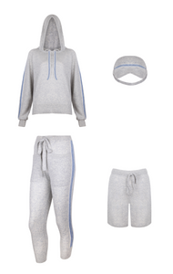 IA Essentials: Striped Grey Cashmere Full Set