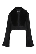 Load image into Gallery viewer, Black Cropped Bell Sleeve Cardigan