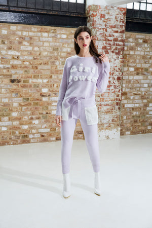 Lilac Girl Power Sweater
