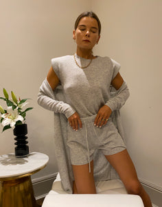 IA Essentials: Grey Cashmere Robe Set