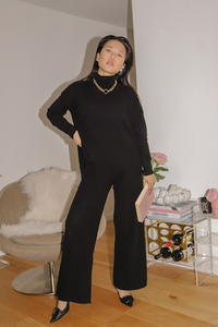 ECO: Black Polo Neck Set