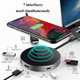 Everything Included Wireless & Wired Hub - USB/Type-C/HDMI/TF - YIKOBUY