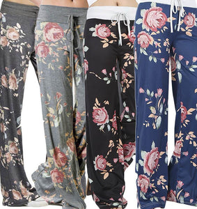 Printed wide-leg pants - YIKOBUY