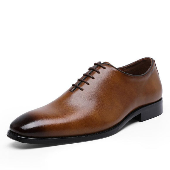 Men's Cowhide Leather Business Shoes - YIKOBUY