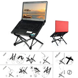 Height-adjustable laptop stand portable desktop stand - black - YIKOBUY