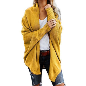Spring Women's Batwing Sleeve Knitwear Cardigan Sweater Coat - YIKOBUY
