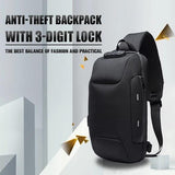 Anti-theft Backpack With 3-Digit Lock - YIKOBUY