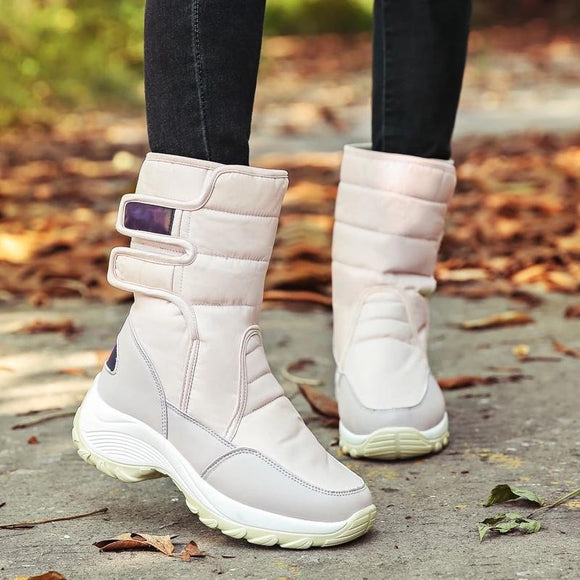 Women's stylish winter Non-slip thermal buckle high top boots - YIKOBUY