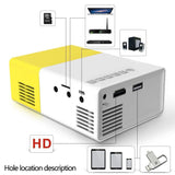 1080P Home Theater Mini Portable HD LED Projector - YIKOBUY