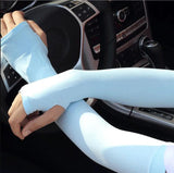 1 Pair of Sun Protection Arm Cooling Cuffs UV Protection Sleeves - YIKOBUY