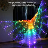 RAINBOW WINGS - LED BUTTERFLY COSTUME - YIKOBUY