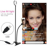 Led Light With Cell Phone Holder - YIKOBUY