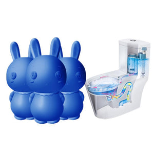 Cute Blue Rabbit Automatic Flush Toilet Cleaner (900 Times Use!) - YIKOBUY