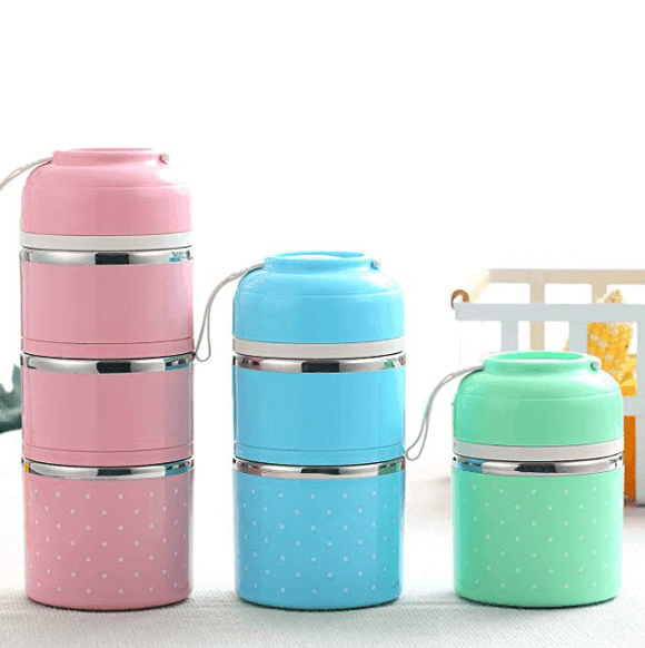 Stainless Steel Thermal Lunch Box ( 2nd Gen ) 3 - Tier Insulated Bento Box - YIKOBUY