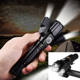 Military 3-head Magnetic LED Flashlight - YIKOBUY