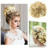 Woman Natural Curly Messy Bun Hair - YIKOBUY
