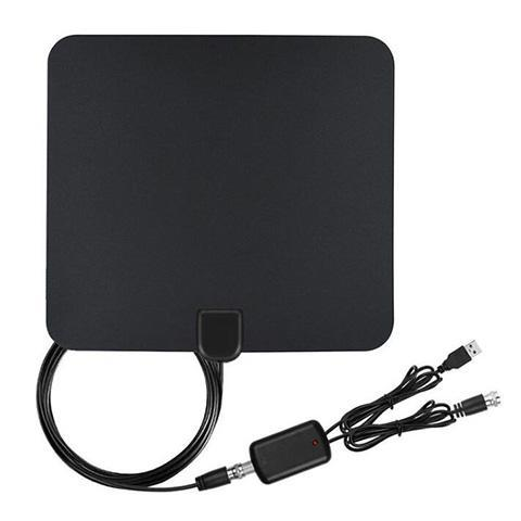 Digital HDTV Antenna 50 Miles Range USB Power Supply - YIKOBUY