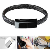 Outdoor Portable Leather Mini USB Bracelet Charging Cable Sync Cord - YIKOBUY