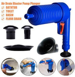 Plunger Opener Cleaner Kit Home High-Pressure Air Drain Blaster Pump Sink Pipe Clog Remover - YIKOBUY