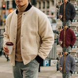 Men Casual Fashion Pure Colour Slim Jacket - YIKOBUY