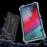New Premium Ultra Slim Alloy Armor Shell Metal Aluminum Phone Case for iPhone 8 X XS XR 11 Pro Max Series - YIKOBUY
