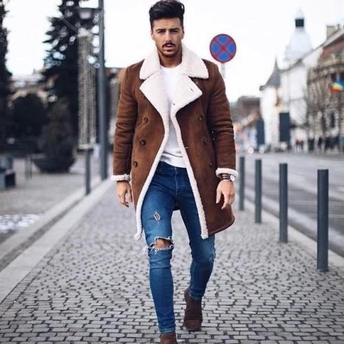 Fashion Men's Long Sleeve Warm Thicken Outerwear - YIKOBUY