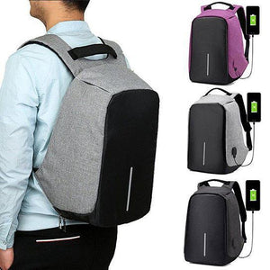Anti Theft Backpack with USB Charger Port - YIKOBUY