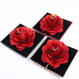 Rotating Red Rose Ring Box - YIKOBUY