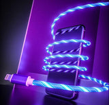 LED Lighting Flow Charger Cable Data USB Glow - YIKOBUY