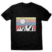 Minimal mountain sunset men's t-shirt