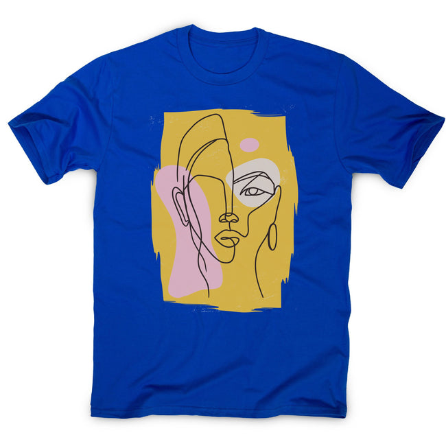 Abstract face men's t-shirt - Make It Print