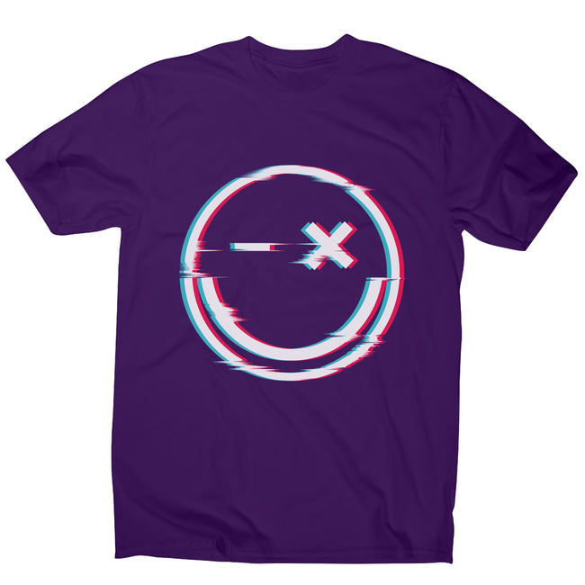 Smile glitch men's t-shirt - Make It Print