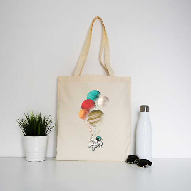 Astronaut balloons tote bag - Make It Print