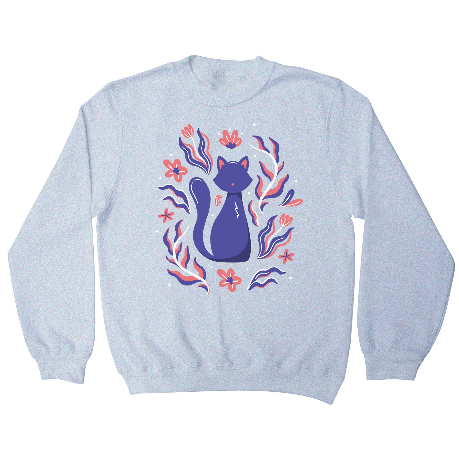 Nature cat illustration sweatshirt