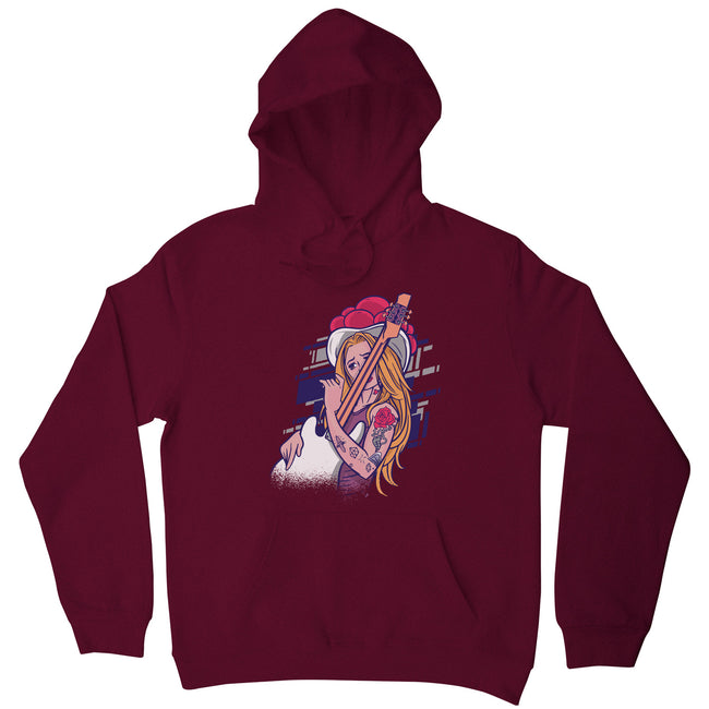 Rock and roll girl hoodie