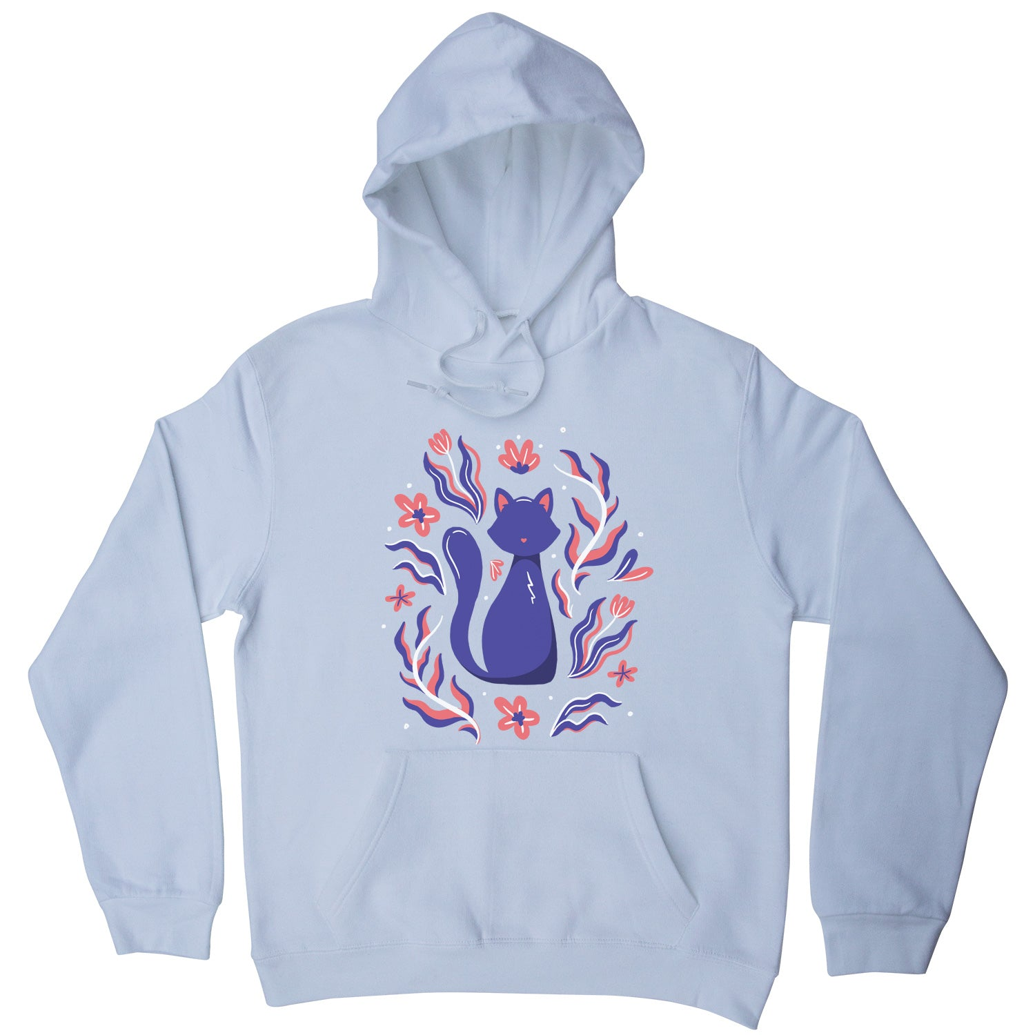 Nature cat illustration hoodie