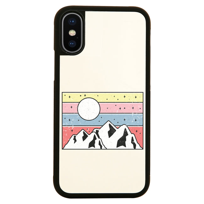 Minimal mountain sunset iPhone case