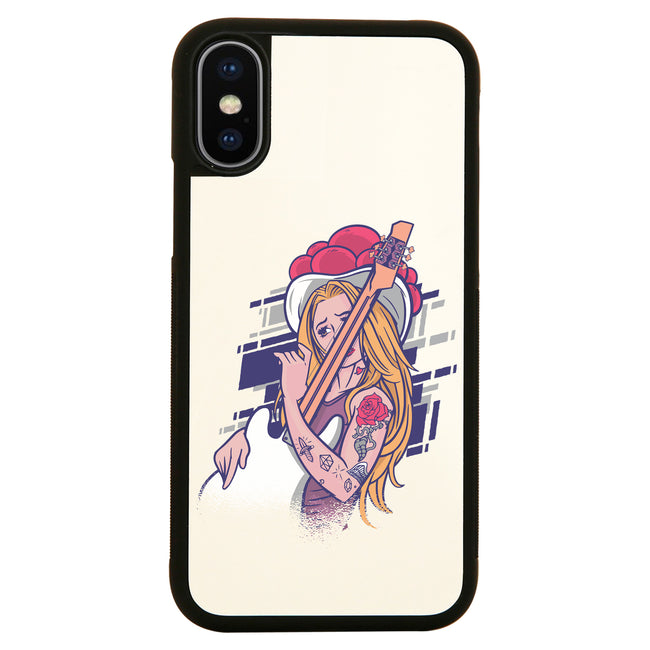 Rock and roll girl iPhone case