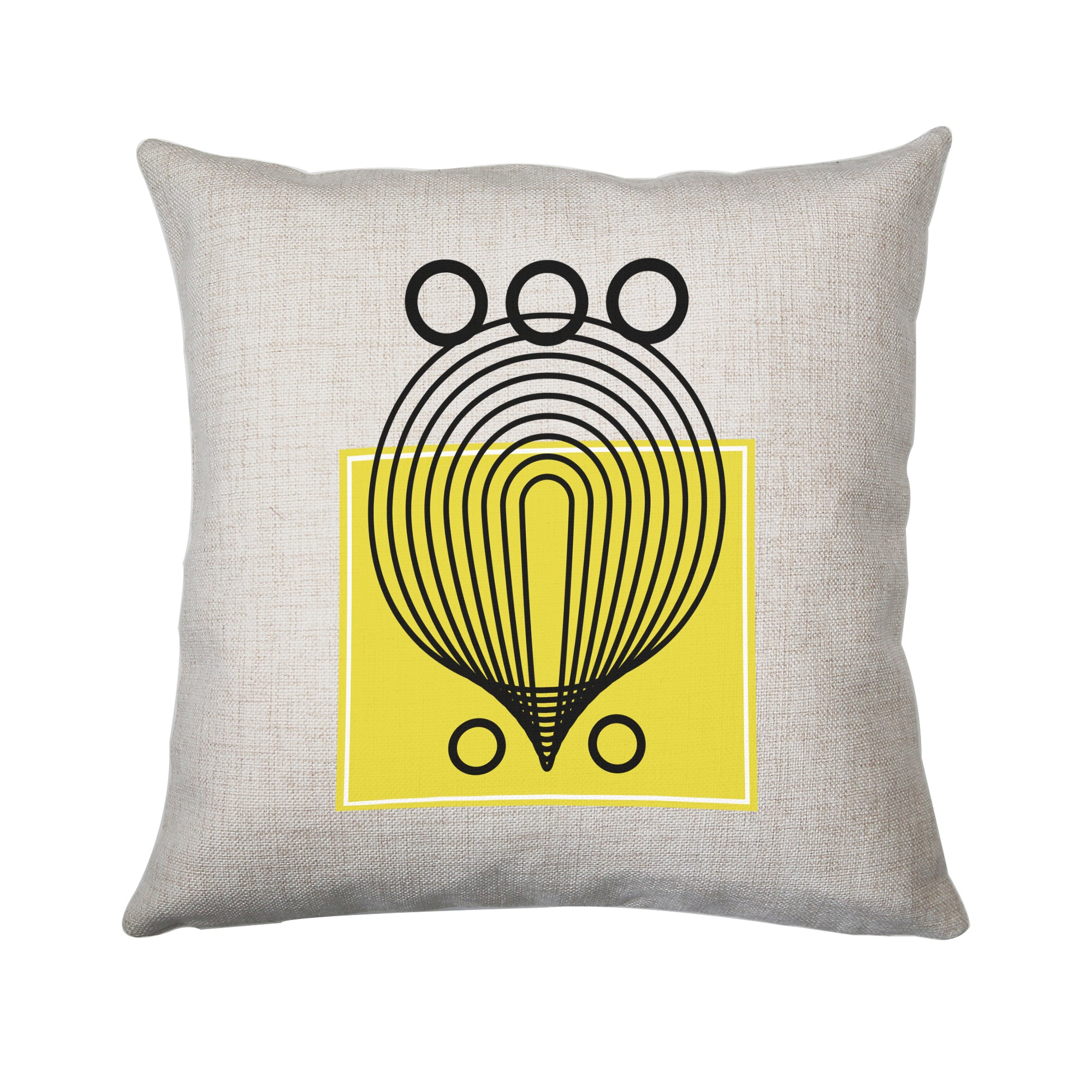 Geometric abstract shapes cushion