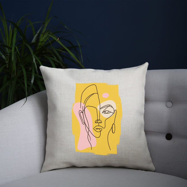 Abstract face cushion - Make It Print