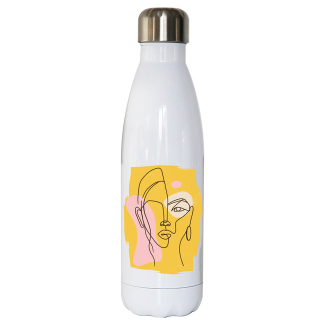 Abstract face water bottle - Make It Print