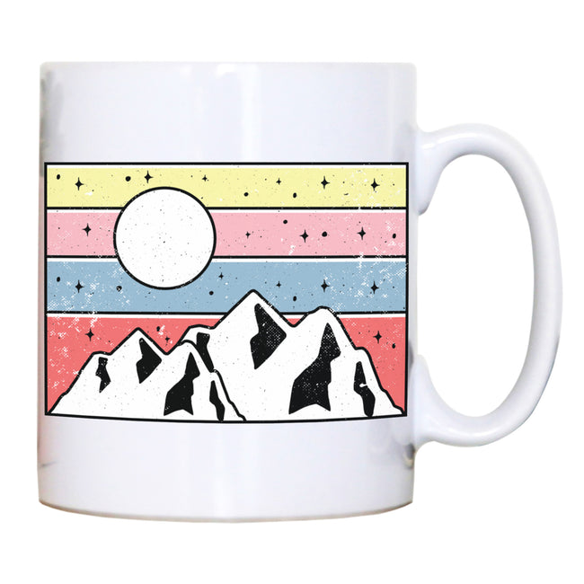 Minimal mountain sunset mug