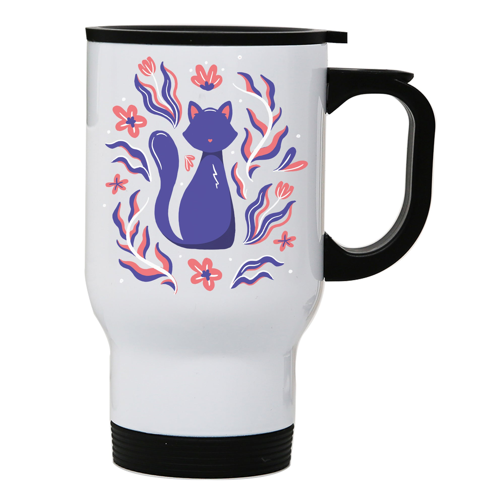 Nature cat illustration travel mug
