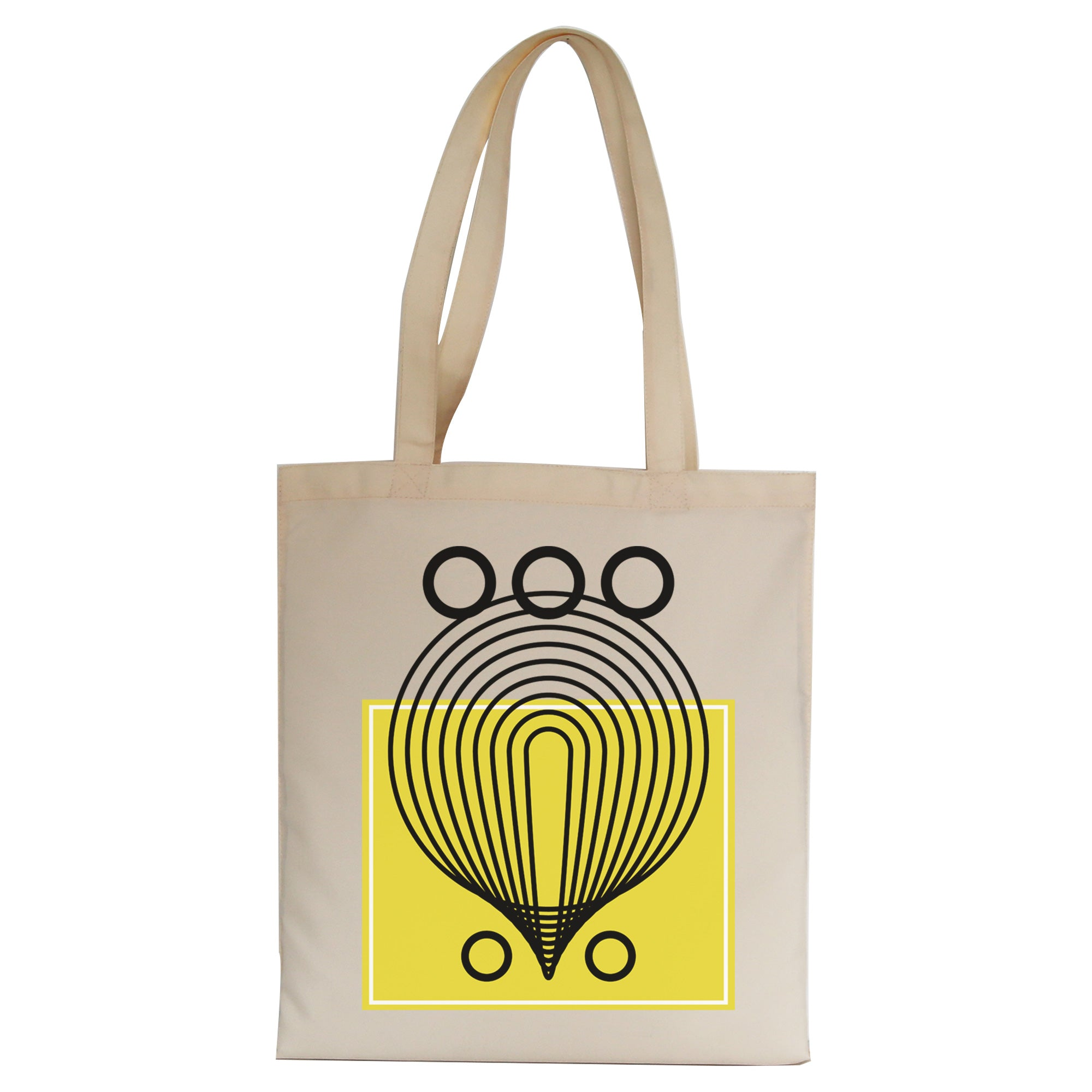 Geometric abstract shapes tote bag
