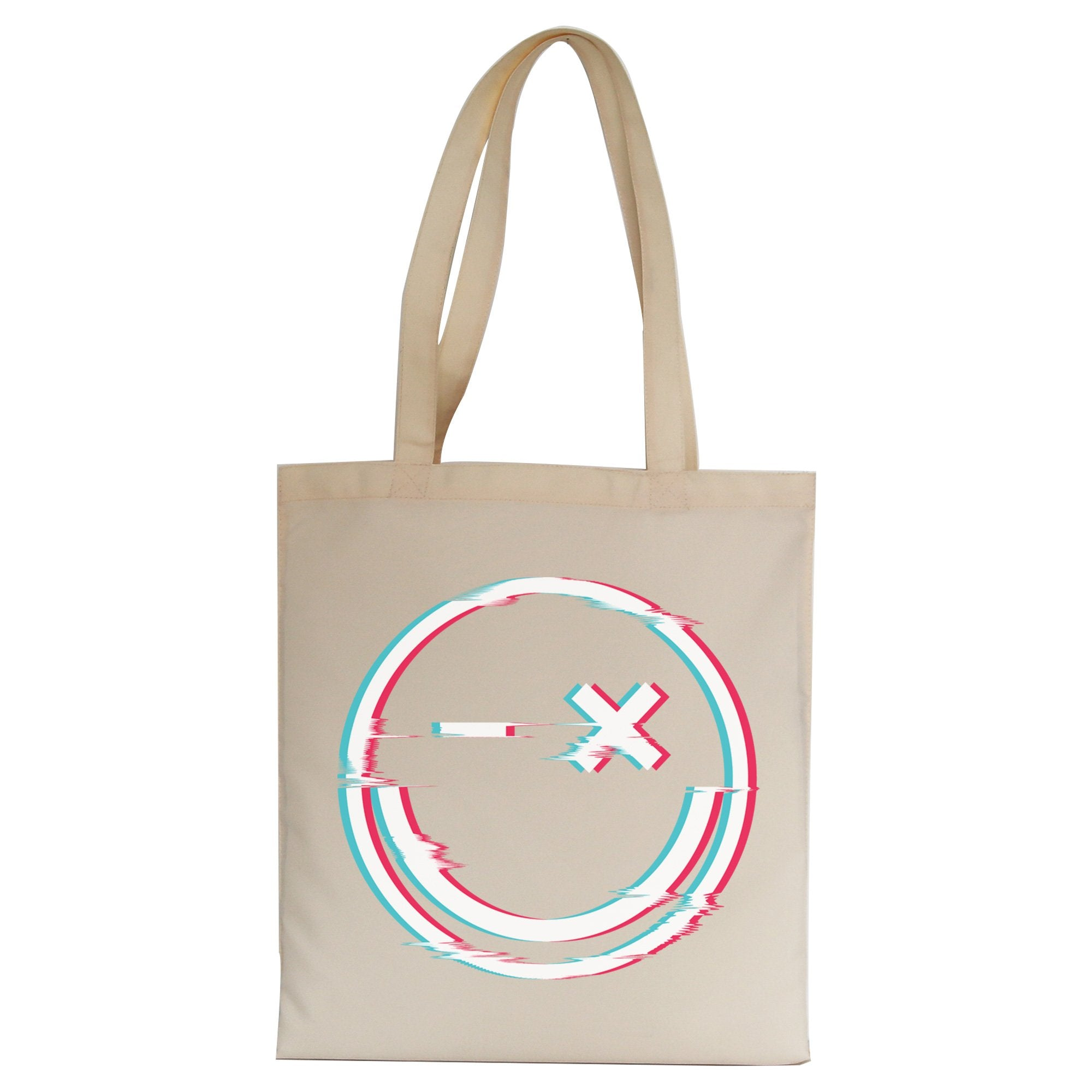 Smile glitch tote bag