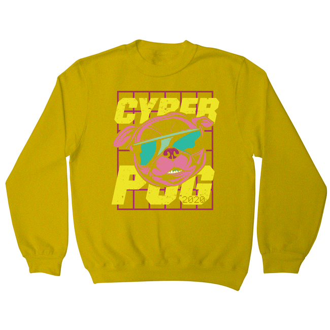Cyber Pug sweatshirt - Make It Print